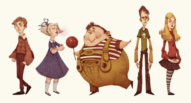 Charlie and the Chocolate Factory by AudreyBenjaminsen