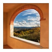 Framed Landscape Square V. by Marcello-Paoli