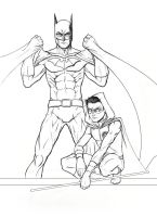 Batman + Damian by bredenius