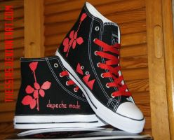 Depeche Mode Shoes by thessias
