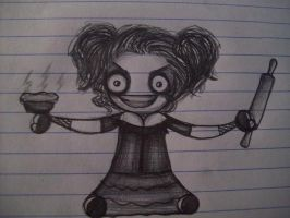 Mrs. Lovett Chibi NEW STYLE by SanariSebuna