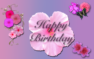 Happy Birthday Flowers WP by WDWParksGal