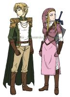 Concepts: Prince Link and Heroine Zelda by theLostSindar
