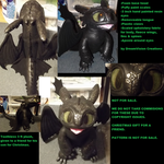 Upright toothless plush not for sale by Monoyasha