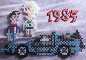 Back to the Future 8-bit Style by Blackshadowbutterfly