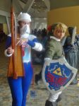 Legend of Zelda's Sheik and Link Cosplays by GamerZone18