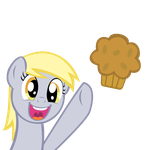 (vectored) derpy expression (reach for the muffin) by kuren247