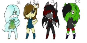 free adoptable batch 3 *CLOSED* by ookami8118