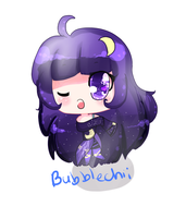 Galaxy Girl Commission by BubbleChii