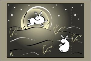 Moon Rabbits again by broom-rider