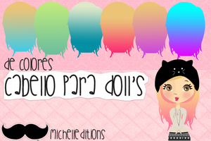 Pack pelos para dolls by MelEditions12