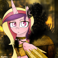 Golden Cadance (Remastered) by SugarberryArt