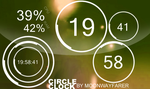 CircleClock for Rainmeter by Dairedo96
