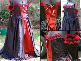 Gothic Prom Gown by BazookaBaby