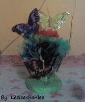 -Flowers and Butterfly Craft. by Leeleechanlee