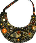 Beaded bib collar necklace Autumn by AniDandelion