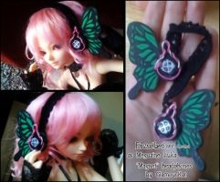 """Magnet"" Doll Headphones by GlamourKat"