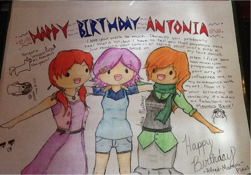 Happy Birthday Antonia! by Alfred-Martini-Pines