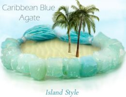 Caribean Blue Agate by BeadsofCambay