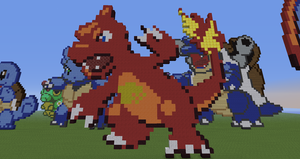 Minecraft Pokemon #005:  Charmeleon by Sherio88
