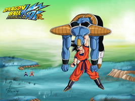 Goku Defeats Burter by Ninja-Master-Tommy