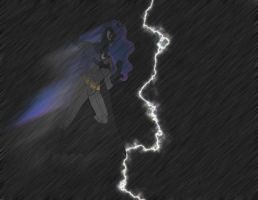 BatLuna 2- with rain and lightning effects by Gojihunter31