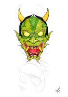 Barbed hannya -coloured- by dfmurcia
