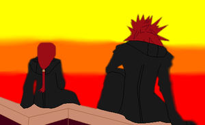 KH: Max X Axel by Ghostgirl1998