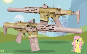 AAC Honey Badger Rifle - Fluttershy Edition by TheBadPanda2