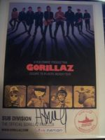 SIGNED GORILLAZ FLIER by AlvrexADPot