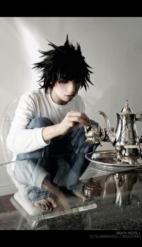 DN Cosplay: L's Tea Time by Crissey
