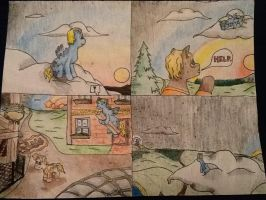A Four Panel Sunset: by AC by Aaronicus