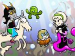 Homestuck: Squiddle friends by sqbr