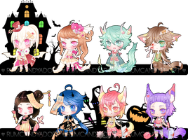 Halloween 2k15 Adopt Set 2 (Sold) $15/Each + Video by RumCandyAdopt