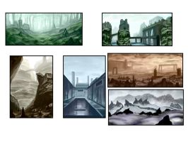 Environment Thumbnails A by HeribertoMartinez