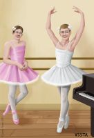 Boys at ballet practice by Eves-Rib