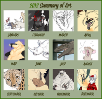 Sarita's 2012 Summary of Art by SaritaWolff