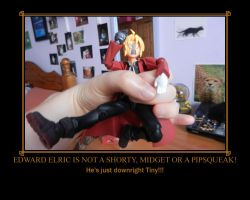 Edward Elric figure Motivational Poster by Miss-Sweetlivvy