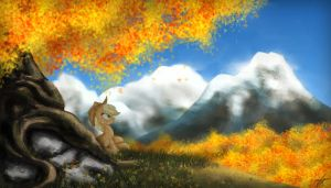 Autumn in Ponyville by Neptali54