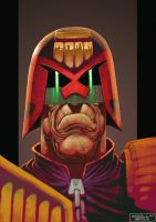 Judge Dredd Portrait by Woolly76