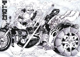 Vice Admiral Smoker and his Billower Bike by Jigmetenzin