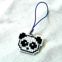 Panda iPhone Charm by agorby00