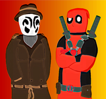 Deadpool and Rorscharch by SuperAshBro