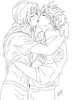Yaoi: Itachi n Minato-lineart by friend4ever802