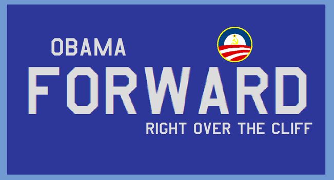 Obama Forward Right Over The Cliff by bagera3005