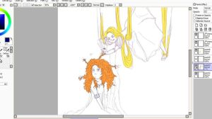 Brave + Tangled WIP by dare-to-OC