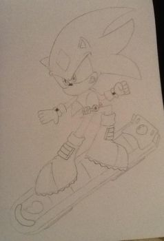 Garrett the Hedgehog (FREE RIDERS) by ArtKing3000