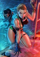 Danger Girl Infiltrating the Compound by vic55b