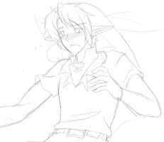 Link blush sketch by AngelofHapiness