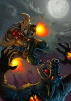 Beating the black dog by MightyMoose